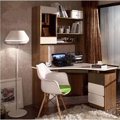 现代书桌椅书柜落地灯组合3D模型【ID:37124876】