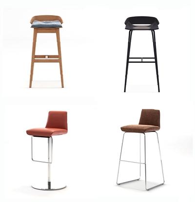 现代吧台椅组合3d模型【ID:37180118】