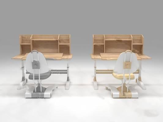 现代桌椅组合3D模型下载【ID:319452787】