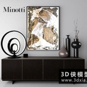 现代电视柜国外3D模型【ID:829525072】