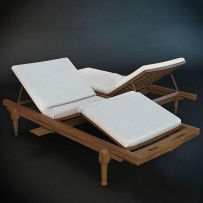 现代实木休闲躺椅3D模型【ID:37204935】