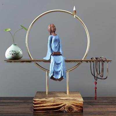 中式人物雕塑摆件组合3D模型【ID:37205385】