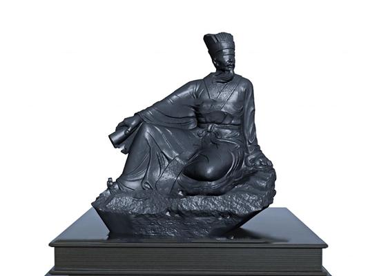 中式历史人物雕塑3d模型【ID:37208783】