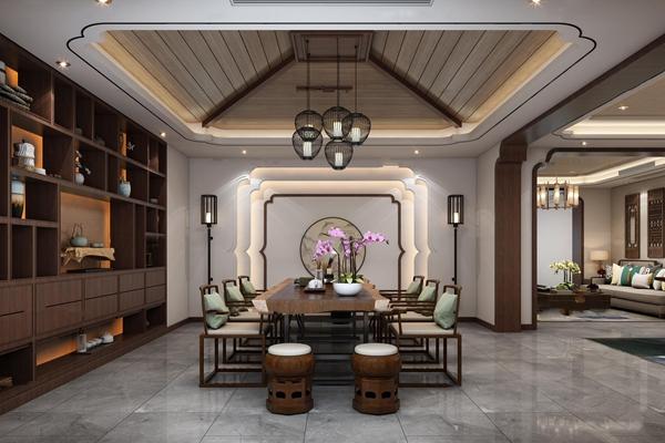 中式茶室3D模型【ID:37209045】