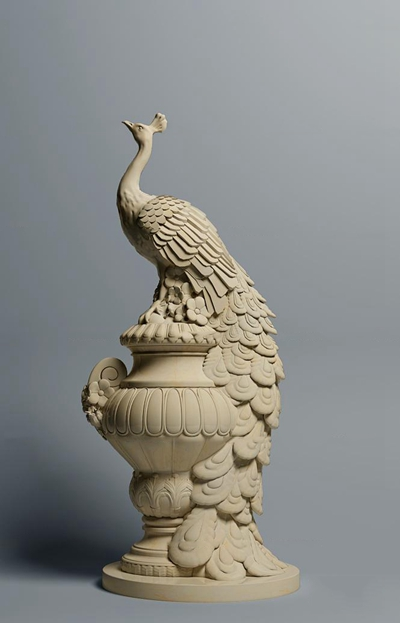 现代孔雀雕塑3d模型【ID:37213788】