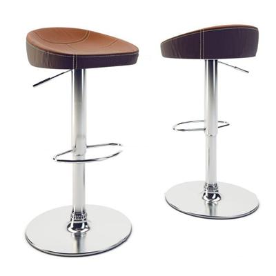 现代皮革吧椅组合3D模型【ID:37229313】