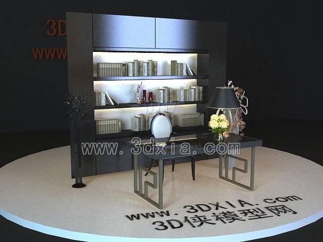 办公桌3D模型-版本2009-176