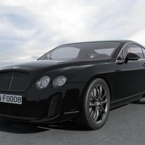现代黑色宾利轿车3D模型【ID:37237213】
