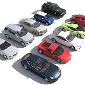 现代汽车跑车组合3D模型【ID:37237216】
