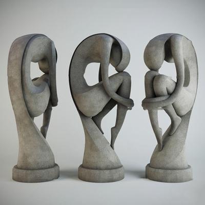 现代人物雕塑艺术品摆件3D模型【ID:37240180】