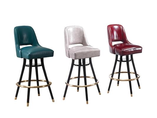 现代皮革吧椅组合3D模型【ID:37248214】