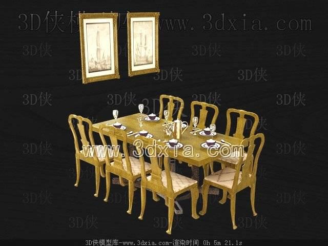 餐桌3D模型-版本2009-460【ID:37364】
