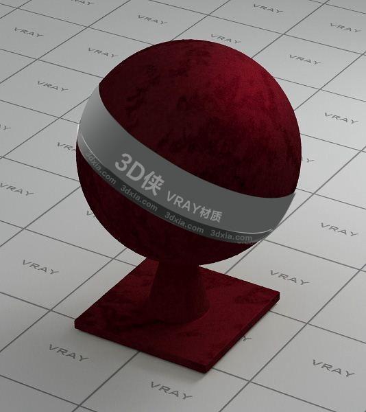 暗紅色布料Vray材質【ID:736431406】
