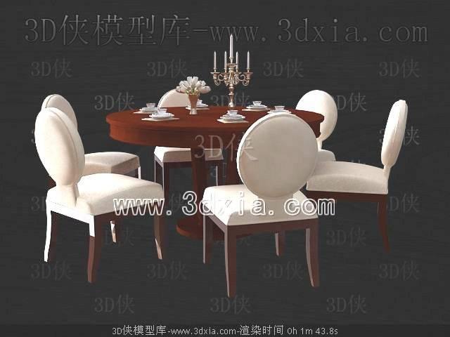 餐桌3D模型-版本2009-a7207【ID:37439】