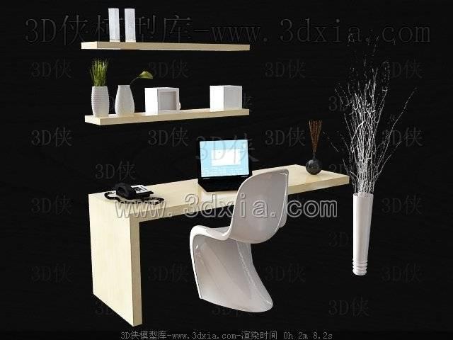 电脑桌3D模型-版本2009-269【ID:37712】