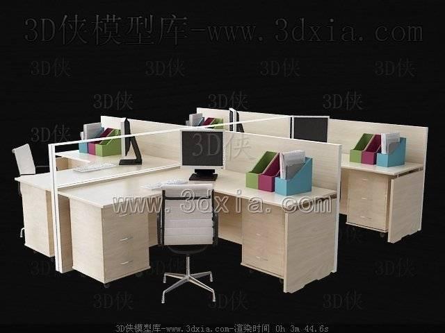 电脑桌3D模型-版本2009-408【ID:37732】