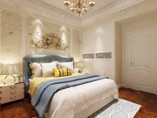 欧式卧室3D模型【ID:419616343】