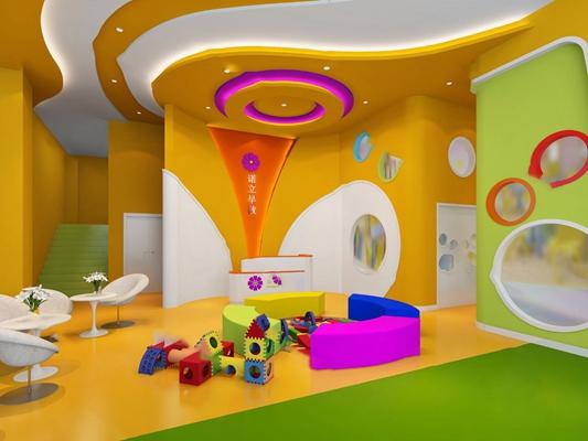 现代幼儿园3D模型【ID:920611099】