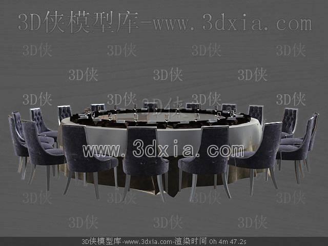 餐桌3D模型-版本2009-238【ID:37828】