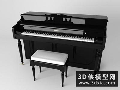 钢琴国外3D模型【ID:229608066】