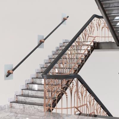 欧式铁艺楼梯3D模型【ID:827815511】