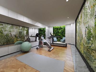 现代家庭健身房3D模型【ID:420825666】