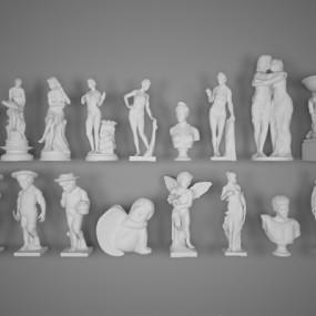 现代雕像3D模型【ID:826224404】
