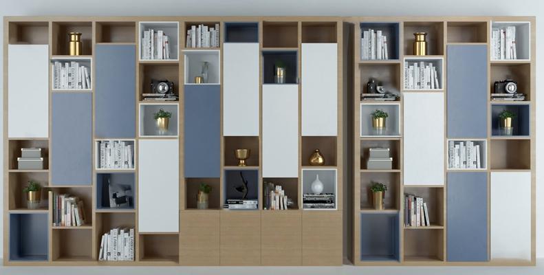 书柜3D模型【ID:920609510】