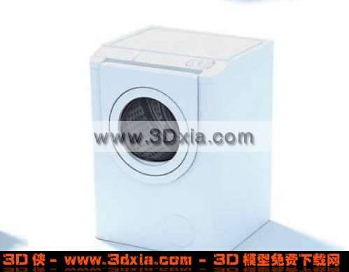 3D非常普通的洗衣机模型下载3D模型【ID:3823】