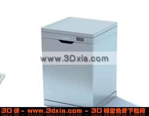 多功能超静洗衣机3D模型【ID:3825】