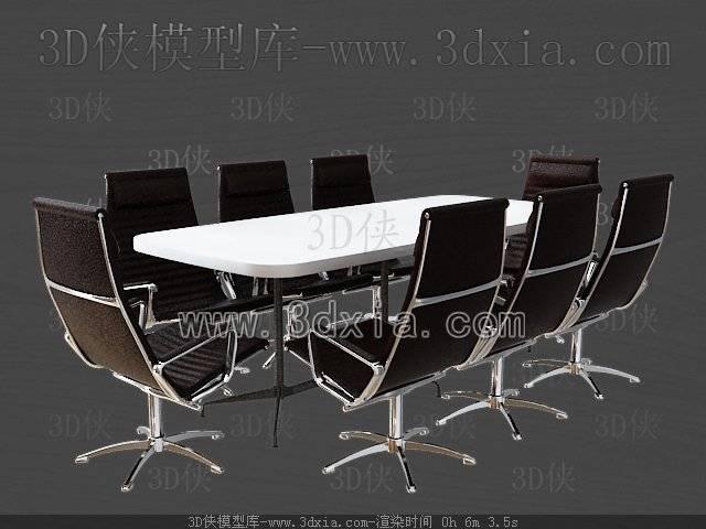 会议桌3D模型-版本2009-21【ID:38263】