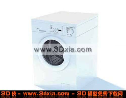 很普通的3D洗衣机模型下载3D模型【ID:3826】