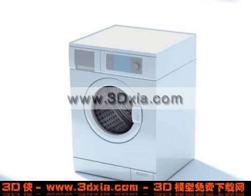 十分普通的3D洗衣机模型3D模型【ID:3828】