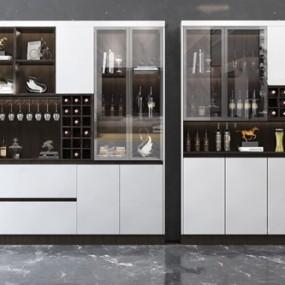 現代酒柜3D模型【ID:646659223】