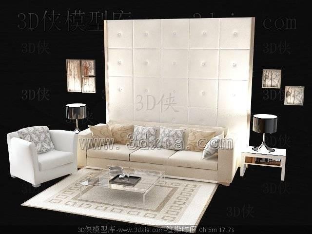 沙发组合-版本2009-a42333D模型【ID:38562】