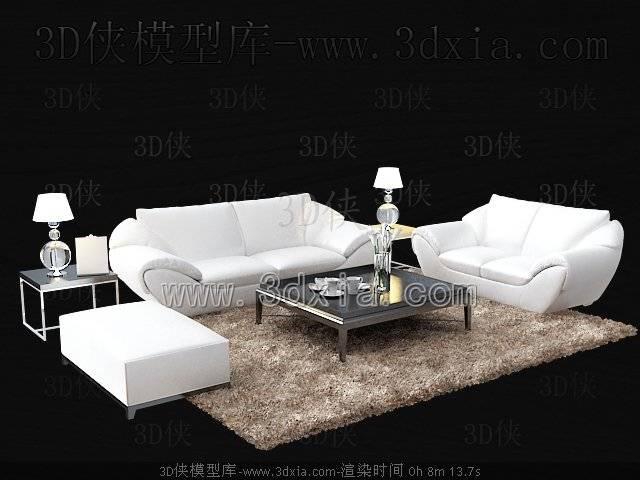 沙发组合3D模型-版本2009-a4386【ID:38582】