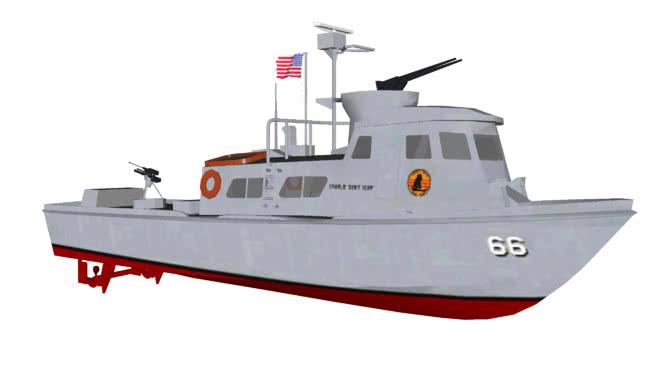 """USS巡逻艇快速MK.I""""快艇""""SU模型【ID:839632443】"""