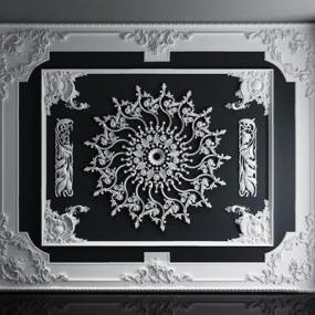 欧式石膏线条雕花组合3D模型【ID:828145628】