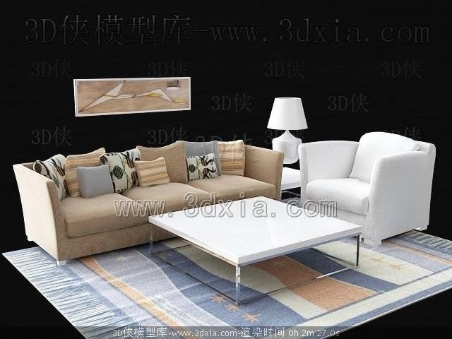 沙发组合3D模型-版本2009-b228【ID:38697】