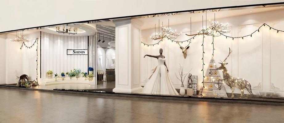 現代婚慶店面3D模型【ID:528042521】