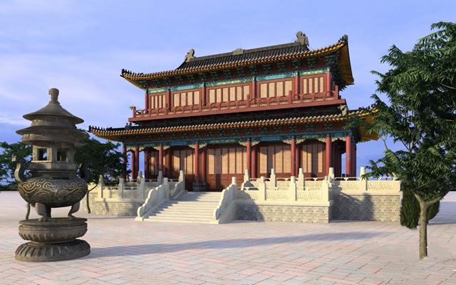 中式建筑3D模型【ID:124881821】