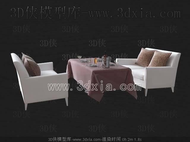 沙发组合3D模型-版本2009-111【ID:38837】