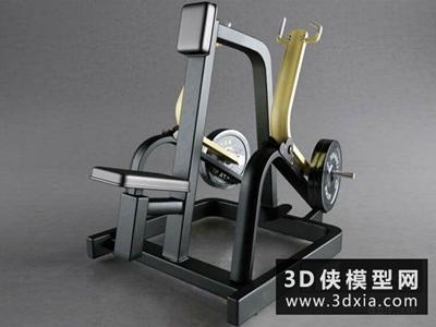 純力量運動訓練器材模型國外3D模型【ID:129349808】