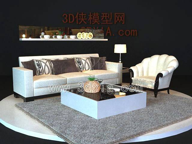 沙发组合3D模型-版本2009-250【ID:38969】