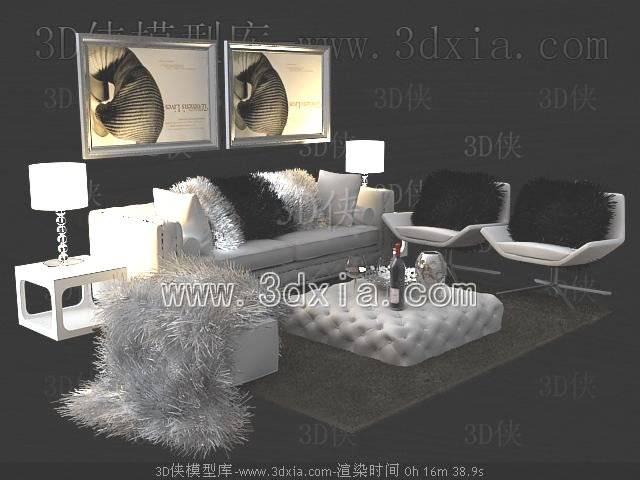 沙发组合3D模型-版本2009-260【ID:38980】