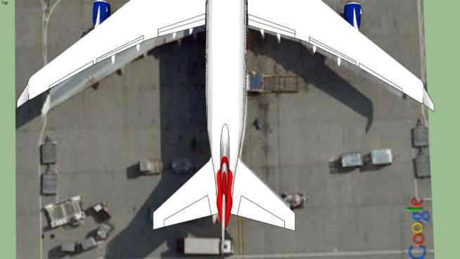 74-400和隧道希思羅機場5號航站樓SU模型【ID:839634555】