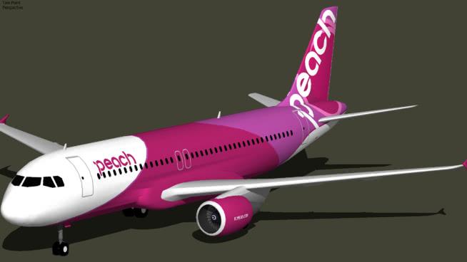 桃色航空公司的航空公司A320—214(2013)SU模型【ID:839635547】