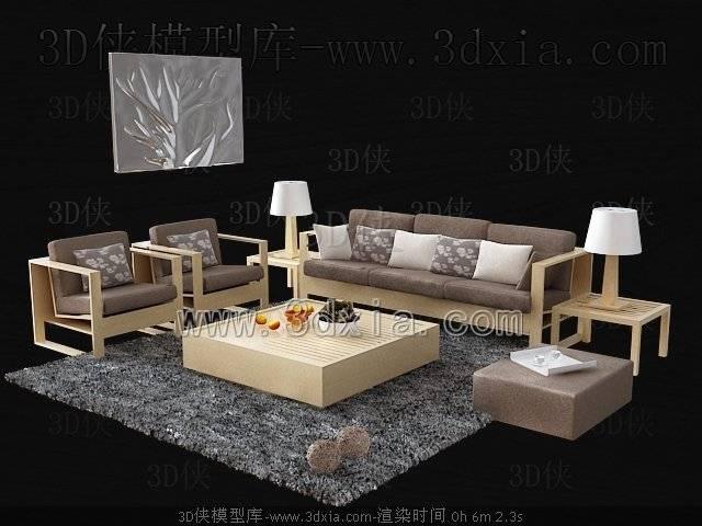 沙发组合3D模型-版本2009-65【ID:39096】