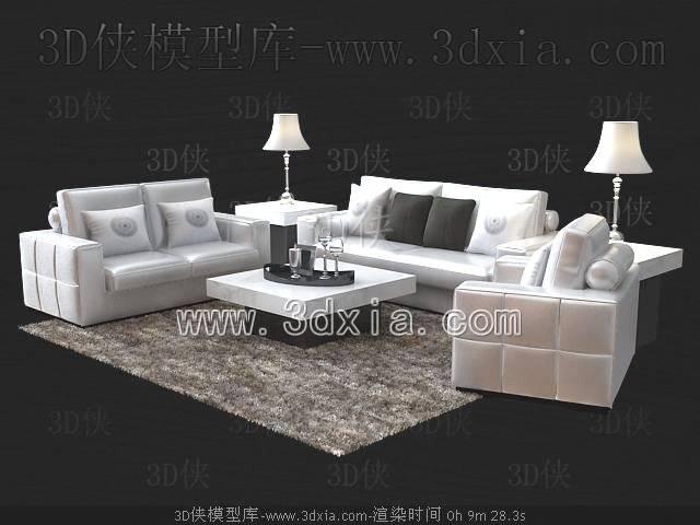 沙发组合-版本2009-4313D模型【ID:39196】