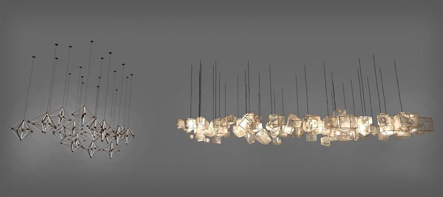 现代吊灯3D模型【ID:226222866】